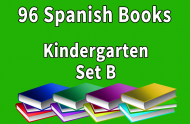 96B-SPANISH Collection Kindergarten Set B